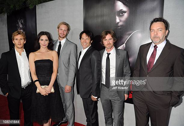 Actors Ryan Kwanten Michelle Forbes Alexander Skarsgard Stephen Moyer Sam Trammell and executive producer Alan Ball attend the HBO Premiere of True...