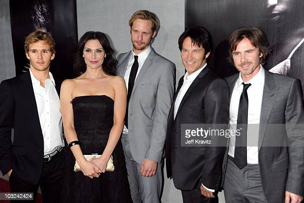 Actors Ryan Kwanten Michelle Forbes Alexander Skarsgard Stephen Moyer and Sam Trammell attend the HBO Premiere of True Blood at Paramount Studios on...