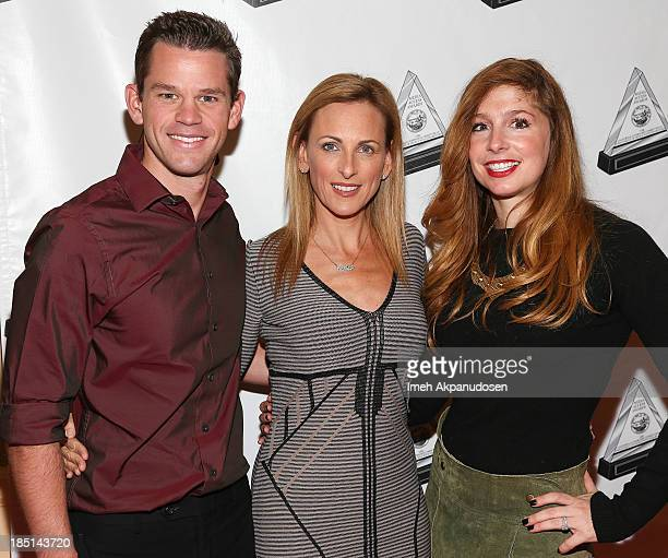 Actors Ryan Lane Marlee Matlin and Shoshannah Stern attend the 2013 Media Access Awards at The Beverly Hilton Hotel on October 17 2013 in Beverly...