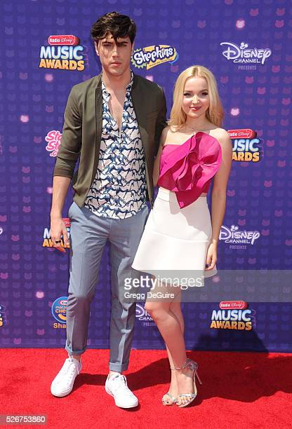 Actors Ryan McCartan and Dove Cameron arrive at the 2016 Radio Disney Music Awards at Microsoft Theater on April 30 2016 in Los Angeles California