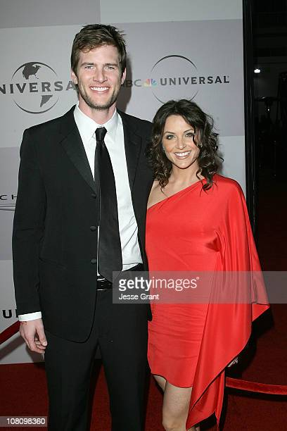 Actors Ryan McPartlin and Danielle Kirlin arrive at NBC Universal's 68th Annual Golden Globes After Party held at The Beverly Hilton hotel on January...