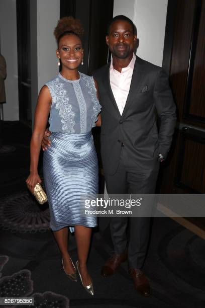Actors Ryan Michelle Bathe and Sterling K Brown at the 33rd Annual Television Critics Association Awards during the 2017 Summer TCA Tour at The...