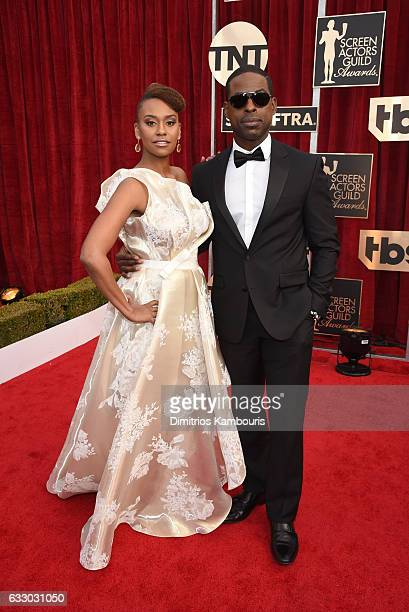 Actors Ryan Michelle Bathe and Sterling K Brown attend The 23rd Annual Screen Actors Guild Awards at The Shrine Auditorium on January 29 2017 in Los...