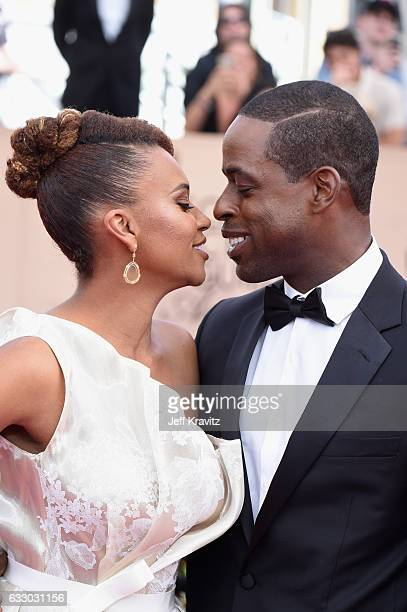Actors Ryan Michelle Bathe and Sterling K Brown attends the 23rd Annual Screen Actors Guild Awards at The Shrine Expo Hall on January 29 2017 in Los...