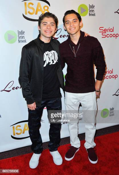 Actors Ryan Ochoa and Robert Ochoa arrive at the 8th Annual Indie Series Awards at The Colony Theater on April 5 2017 in Burbank California
