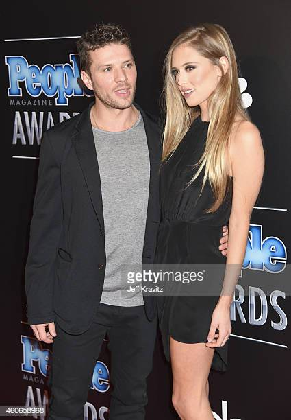 Actors Ryan Phillippe and Paulina Slagter attend the PEOPLE Magazine Awards at The Beverly Hilton Hotel on December 18 2014 in Beverly Hills...