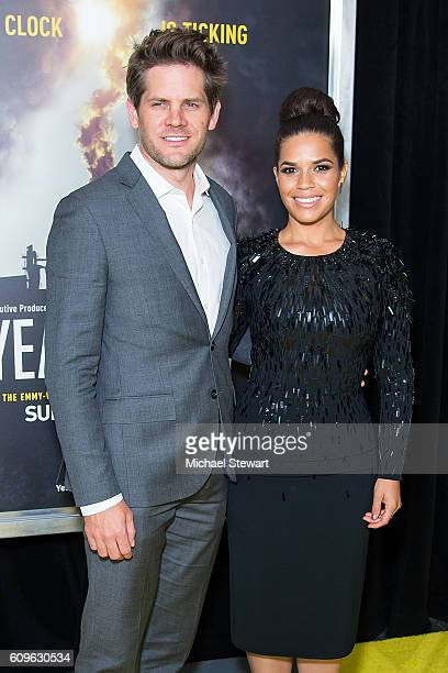 Actors Ryan Piers Williams and America Ferrera attend National Geographic's 'Years Of Living Dangerously' new season world premiere at American...