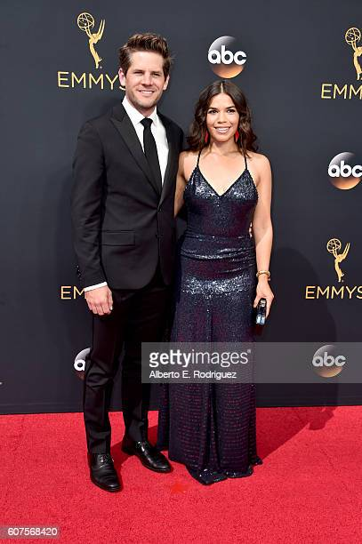 Actors Ryan Piers Williams and America Ferrera attend the 68th Annual Primetime Emmy Awards at Microsoft Theater on September 18 2016 in Los Angeles...