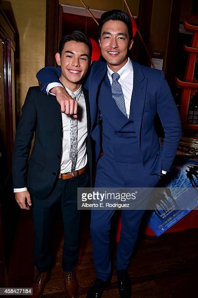 """Actors Ryan Potter and Daniel Henney attend the Walt Disney Animation Studios' """"Big Hero 6"""" Premiere After Party at Yamashiro Hollywood on November 4..."""