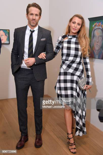 Actors Ryan Reynolds and Blake Lively All artworks by Martial Raysse Martial Raysse Artists Rights Society New York / ADAGP Paris attends the Final...