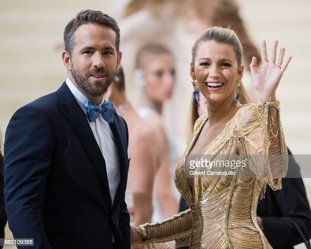 Actors Ryan Reynolds and Blake Lively are seen at the 'Rei Kawakubo/Comme des Garcons Art Of The InBetween' Costume Institute Gala at Metropolitan...