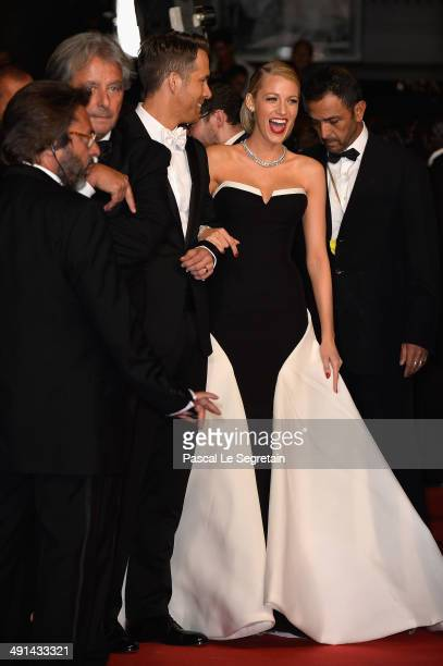Actors Ryan Reynolds and Blake Lively attend the Captives premiere during the 67th Annual Cannes Film Festival on May 16 2014 in Cannes France