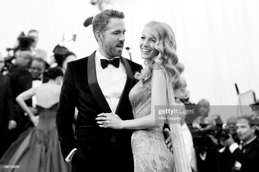 Actors Ryan Reynolds (L) and Blake Lively attend the 'Charles James: Beyond Fashion' Costume Institute Gala at the Metropolitan Museum of Art on May 5, 2014 in New York City.