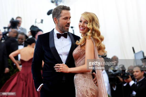 Actors Ryan Reynolds and Blake Lively attend the Charles James Beyond Fashion Costume Institute Gala at the Metropolitan Museum of Art on May 5 2014...