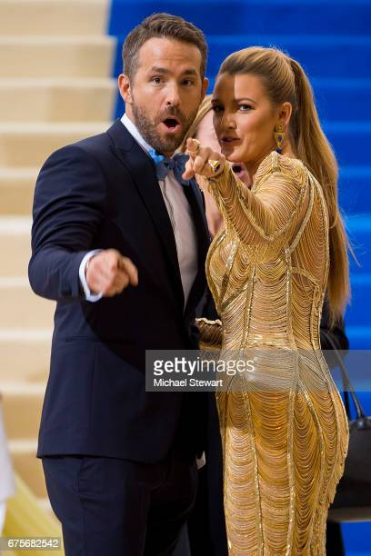 Actors Ryan Reynolds and Blake Lively attend the 'Rei Kawakubo/Comme des Garcons Art Of The InBetween' Costume Institute Gala at Metropolitan Museum...