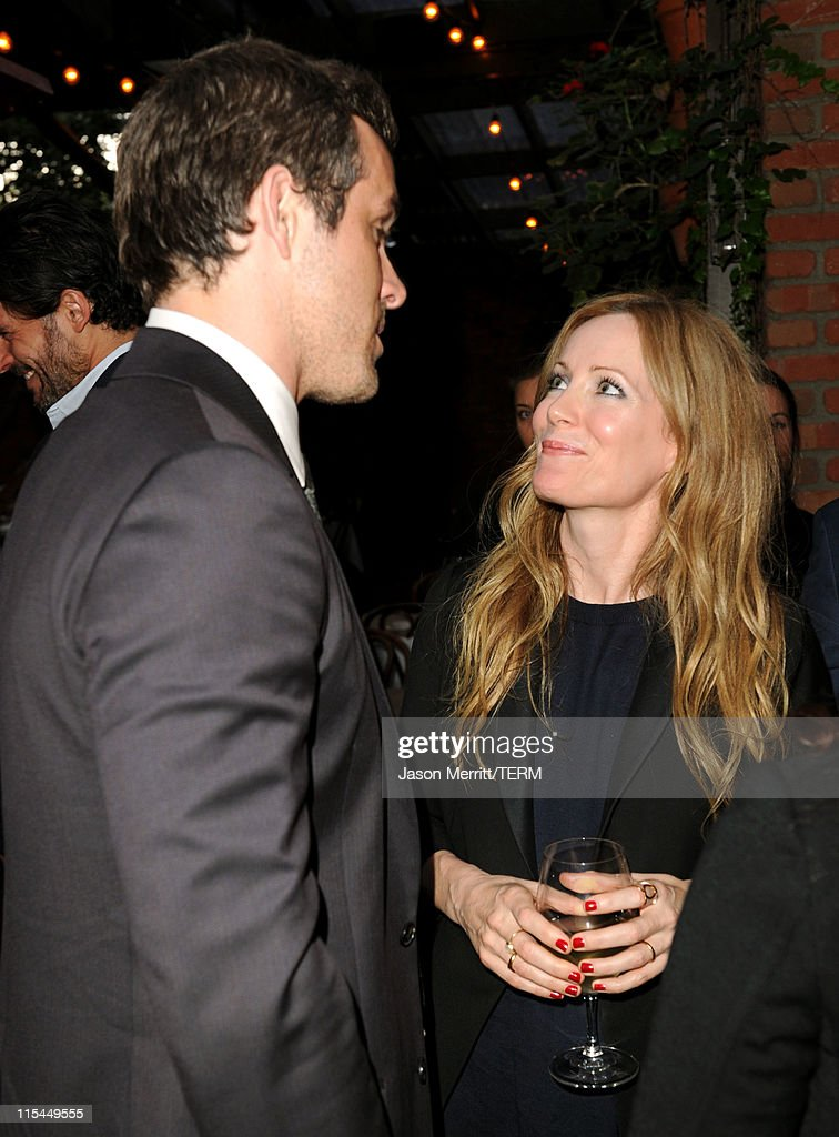 Actors Ryan Reynolds (L) and Leslie Mann attend the Details Magazine/ Ryan Reynolds Party held at Dominick's Restaurant on June 6, 2011 in Los Angeles, California.