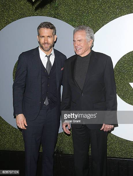 Actors Ryan Reynolds and Warren Beatty attend the 2016 GQ Men of the Year Party at Chateau Marmont on December 8 2016 in Los Angeles California