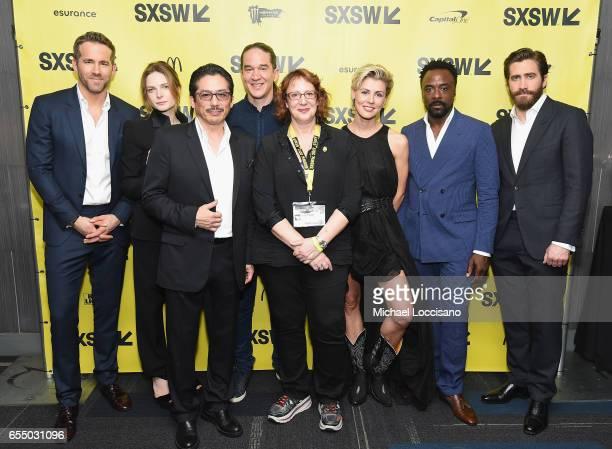 Actors Ryan Reynolds Rebecca Ferguson Hiroyuki Sanada Director Daniel Espinosa SXSW Film Festival Director Janet Pierson and actors Olga Dihovichnaya...