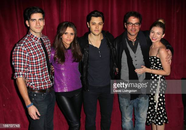 Actors Ryan Rottman Alexandra Chando Blair Radford Tyler Christopher and Allie Gonino attend the 'Bands for Beds' Bethlehem Parents Primary School...