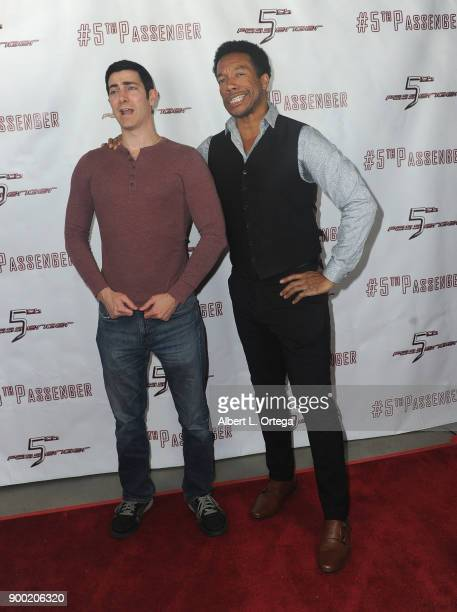 Actors Ryan T Husk and Rico E Anderson arrive for the Cast And Crew Screening Of 5th Passenger held at TCL Chinese 6 Theatres on December 13 2017 in...