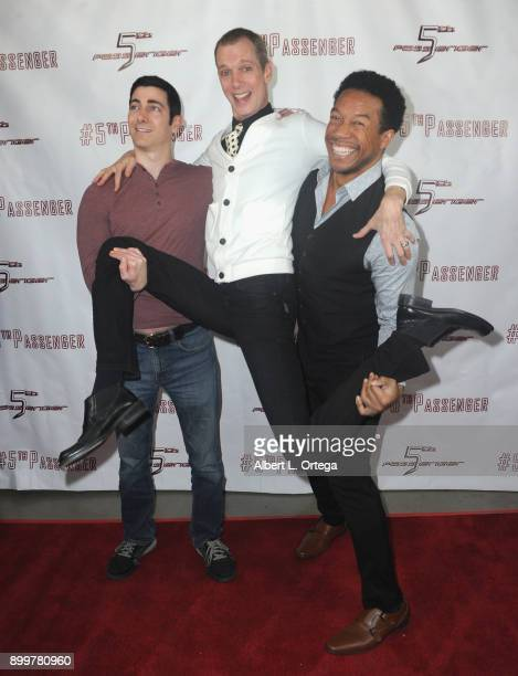 Actors Ryan T Husk Doug Jones and Rico E Anderson arrive for the cast and crew screening of 5th Passenger held at TCL Chinese 6 Theatres on December...