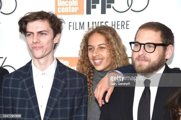 Actors Ryder McLaughlin Olan Prenatt and director/screenwriter Jonah Hill attend the New York premiere of 'Mid90s' during the 56th New York Film...
