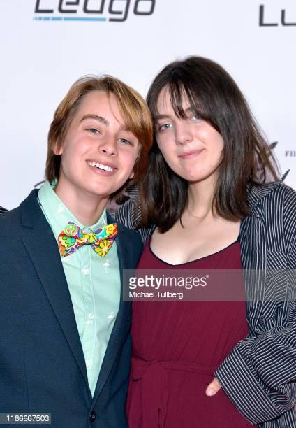 Actors Ryker Baloun and Reagan Riley attend the Kash Hovey and Friends Film Block at Film Fest LA at Regal Cinemas LA LIVE Stadium 14 on November 09...