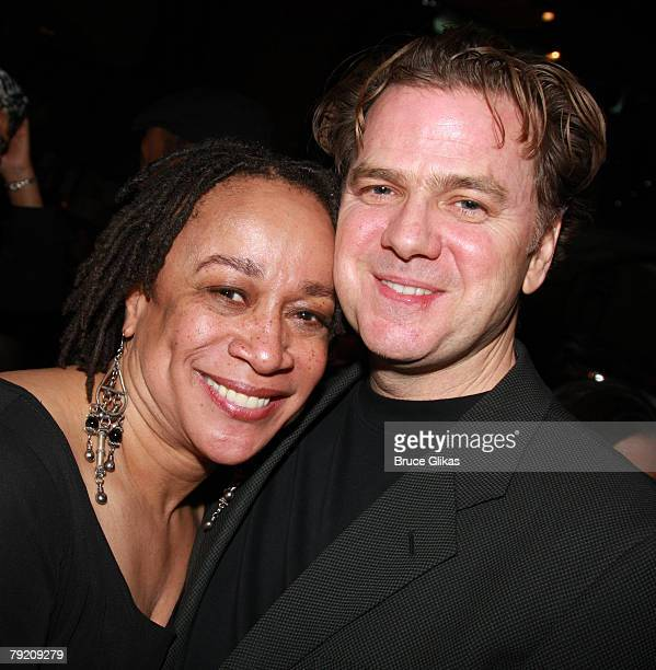 "Actors S. Epatha Merkerson and Kevin Anderson pose at The Opening Night Party for the Revival of ""Come Back, Little Sheba"" at Planet Hollywood Times..."