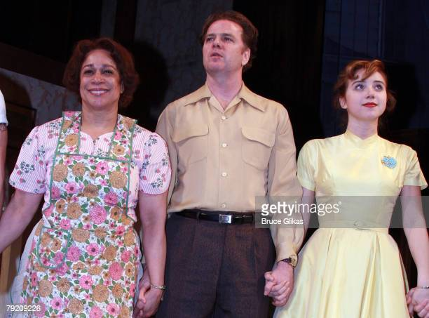 "Actors S. Epatha Merkerson, Kevin Anderson and Zoe Kazan bow at The Opening Night Curtain Call or The Revival of ""Come Back, Little Sheba"" at The..."