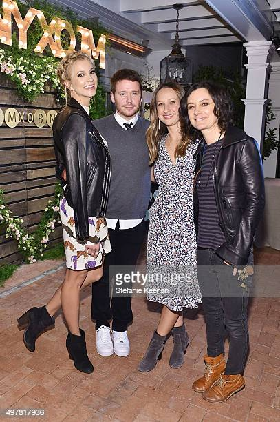 Actors Sabina Gadecki Kevin Connolly designer Jennifer Meyer and actress Sara Gilbert attend Barneys New York Jennifer Aniston and Tobey Maguire host...