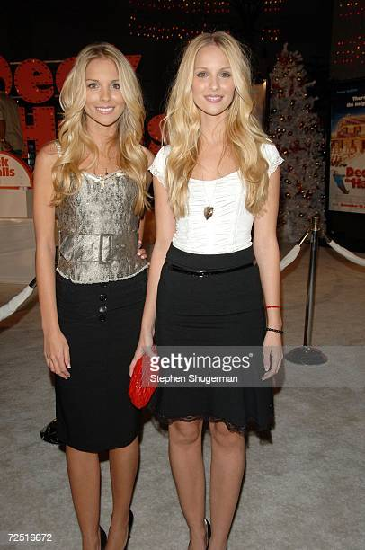 Actors Sabrina Aldridge and her twin sister Kelly Aldridge attend the 20th Century Fox Premiere of Deck The Halls at Mann's Grauman Chinese Theater...