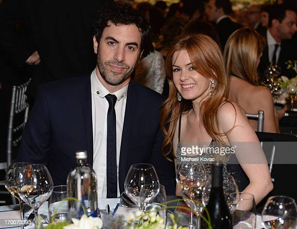 Actors Sacha Baron Cohen and Isla Fisher attend 41st AFI Life Achievement Award Honoring Mel Brooks at Dolby Theatre on June 6 2013 in Hollywood...