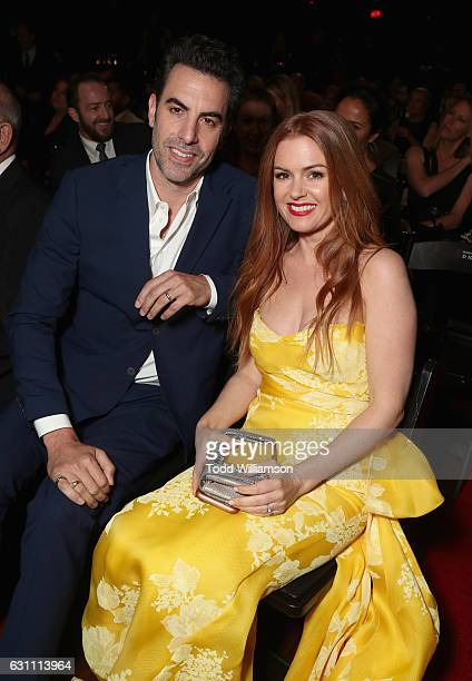 Actors Sacha Baron Cohen and Isla Fisher attend The 6th AACTA International Awards on January 6 2017 in Los Angeles California