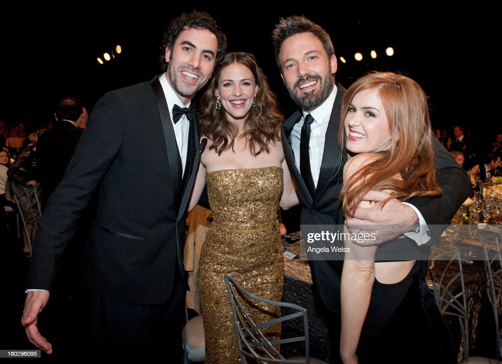 Actors Sacha Baron Cohen, Jennifer Garner, Ben Affleck and Isla Fisher attend the 19th Annual Screen Actors Guild Awards at The Shrine Auditorium on January 27, 2013 in Los Angeles, California.