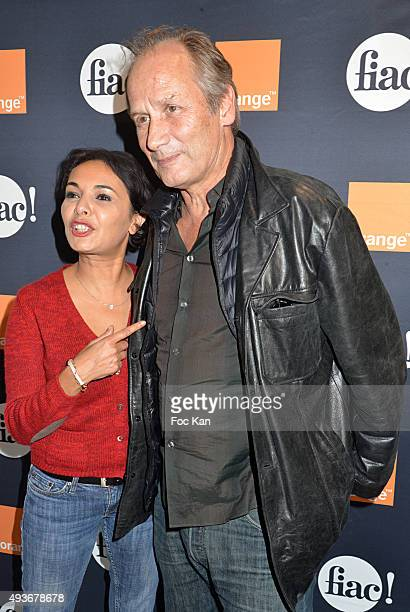 Actors Saida Jawad and Hyppolite Girardot attend the Cocktail Orange during the FIAC 2015 International Contemporary Art Fair At Grand Palais on...
