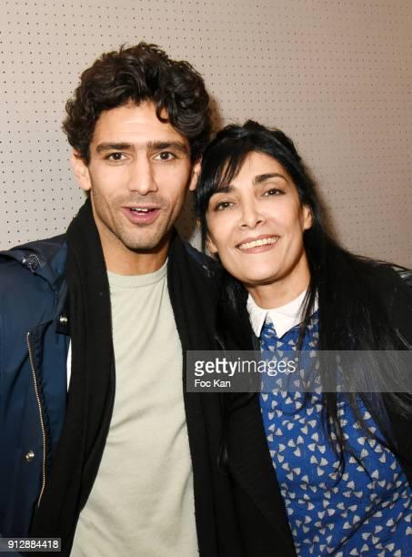 Actors Salim Kechiouche and Fatima Adoum attend 'Voyoucratie' premiere at Publicis Champs Elysees on January 31 2018 in Paris France