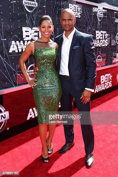 Actors Salli Richardson Whitfield and Dondre Whitfield arrived at the BET Make A Wish Foundation Recipients BET Experience At LA Live Red Carpet...