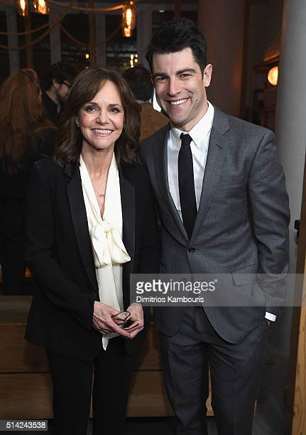 Actors Sally Field and Max Greenfield attend the after party of the New York premiere Of 'Hello My Name Is Doris' hosted by Roadside Attractions with...