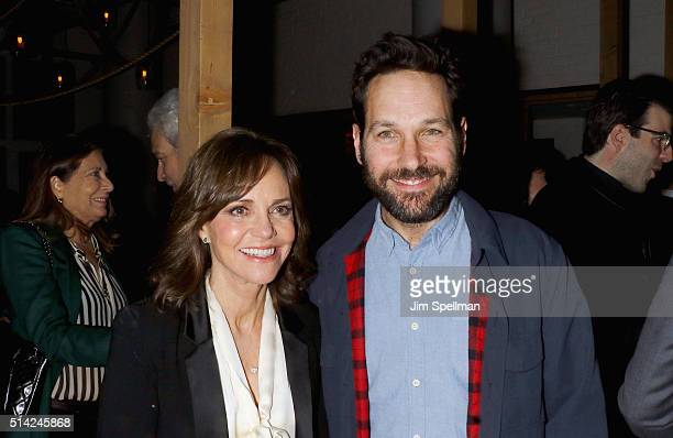 Actors Sally Field and Paul Rudd attend the after party for Roadside Attractions with The Cinema Society Belvedere Vodka New York premiere Of 'Hello...