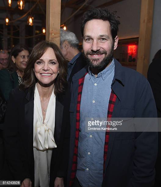 Actors Sally Field and Paul Rudd attend the after party of the New York premiere Of 'Hello My Name Is Doris' hosted by Roadside Attractions with The...