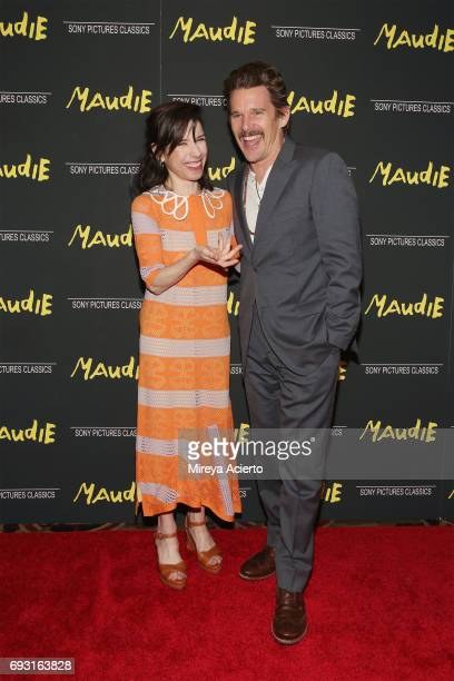 Actors Sally Hawkins and Ethan Hawke attend the 'Maudie' New York screening at AMC Loews Lincoln Square on June 6 2017 in New York City