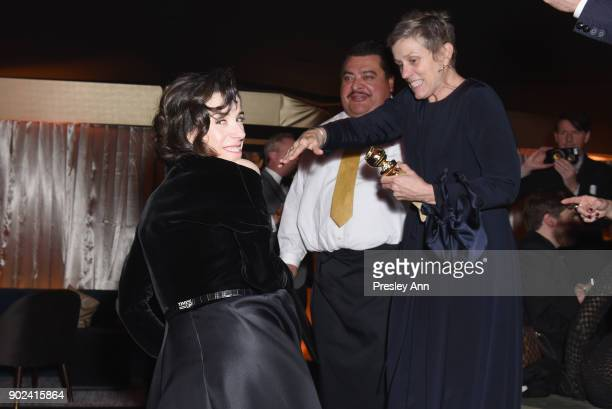 Actors Sally Hawkins and Frances McDormand winner of Best Performance by an Actress in a Motion Picture – Drama for 'Three Billboards Outside Ebbing...
