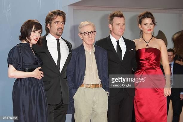 Actors Sally Hawkins, Colin Farrell, director Woody Allen, actors Ewan McGregor and Hayley Atwell attend the Cassandra's Dream premiere in Venice...