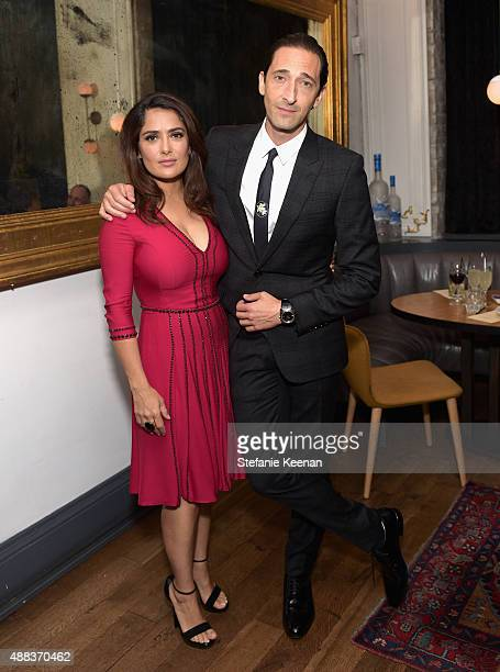 Actors Salma Hayek and Adrien Brody attend the Septembers of Shiraz TIFF Party Hosted By GREY GOOSE Vodka at Byblos on September 15 2015 in Toronto...