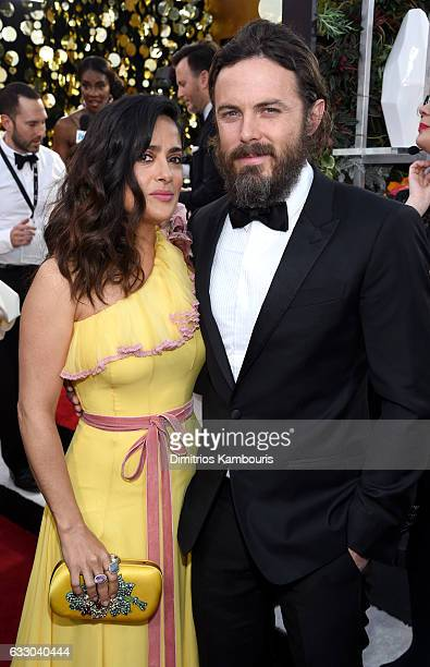 Actors Salma Hayek and Casey Affleck attend The 23rd Annual Screen Actors Guild Awards at The Shrine Auditorium on January 29 2017 in Los Angeles...