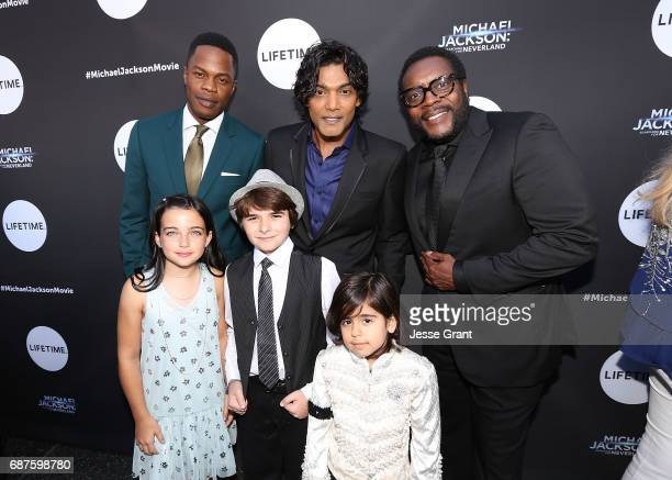 Actors Sam Adegoke Taegen Burns Aidan Hanlon Smith Navi Michael Mourra and Chad L Coleman attend Lifetime's Michael Jackson Searching for Neverland...
