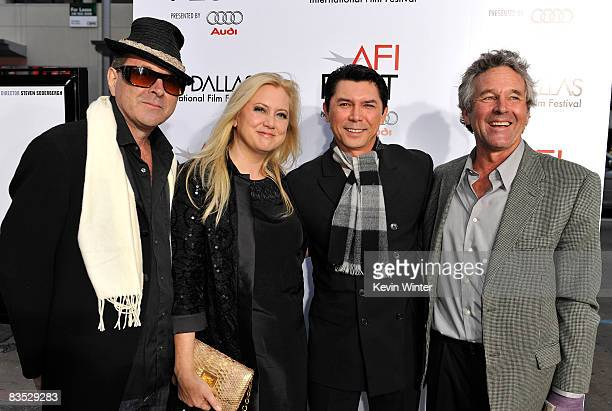 Actors Sam Bottoms producer Laura Bickford Lou Diamond Phillips and Timothy Bottoms arrive at the 2008 AFI Fest centerpiece gala screening of Che...