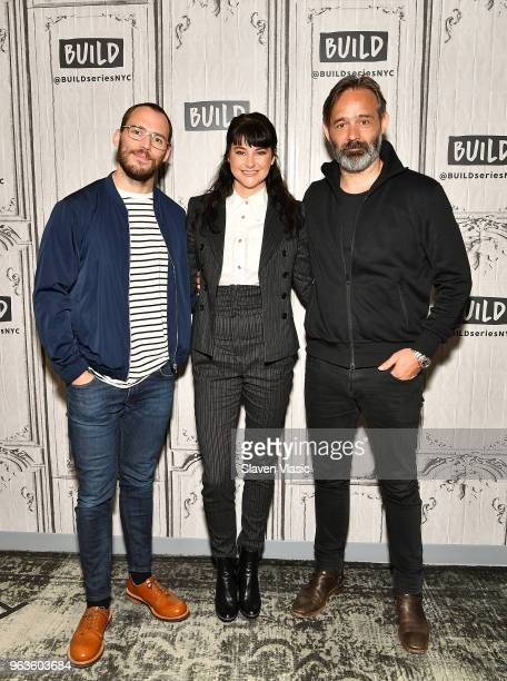 Actors Sam Claflin Shailene Woodley and director Baltasar Kormakur visit Build Series to discuss Adrift at Build Studio on May 29 2018 in New York...