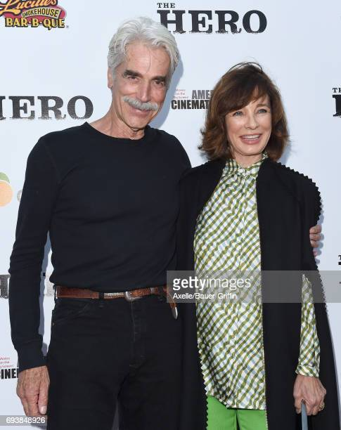Actors Sam Elliott and Anne Archer arrive at the Los Angeles premiere of 'The Hero' at the Egyptian Theatre on June 5 2017 in Hollywood California