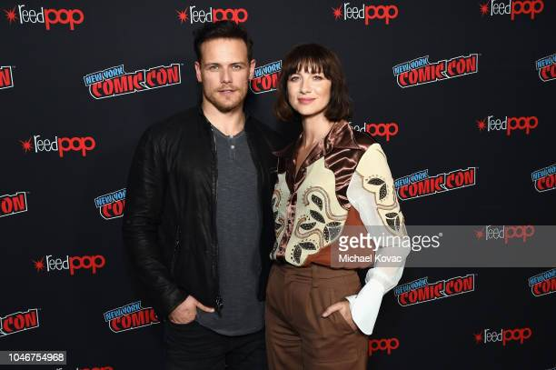 Actors Sam Heughan and Caitriona Balfe attend as Starz brings Outlander to NYCC 2018 at Javits Center on October 6, 2018 in New York City.